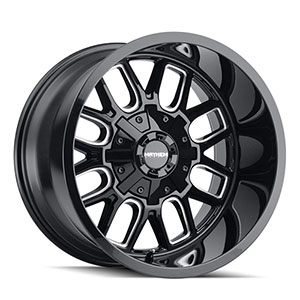 Mayhem Cogent 8107 Gloss Black W/ Milled Spokes