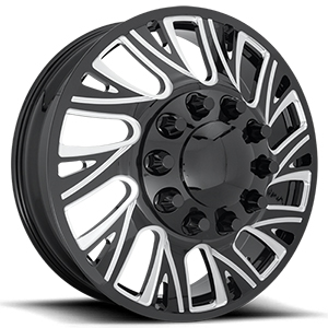 Fuel Forged FF41D Matte Black W/ Milled Spokes