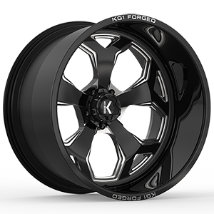 KG1 Forged Knox KF008 Gloss Black Machined