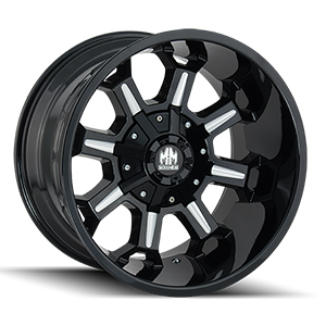 Mayhem Combat 8105 Gloss Black W/ Milled Spokes