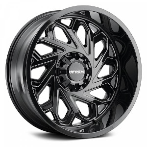 Mayhem Essex 8112 Gloss Black W/ Milled Spokes