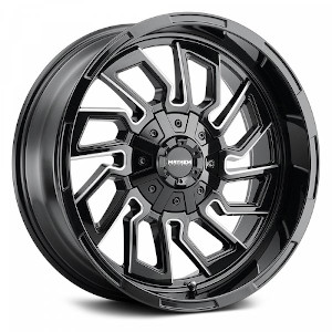 Mayhem Flywheel 8111 Gloss Black W/ Milled Spokes