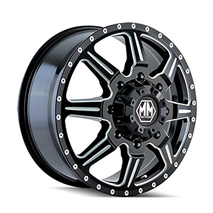 Mayhem Monstir 8101 Gloss Black W/ Milled Spokes Front