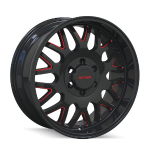 Mayhem Tripwire 8110 Gloss Black W/ Red Spokes