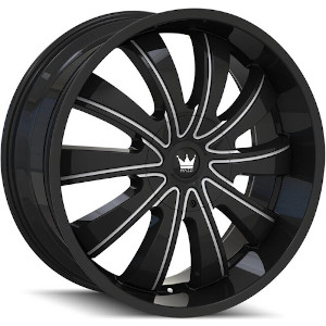 Mazzi Rolla 374 Matte Black W/ Machined Dark Tint