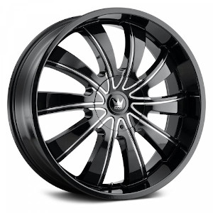 Mazzi Rolla 374 Black W/ Milled Spokes