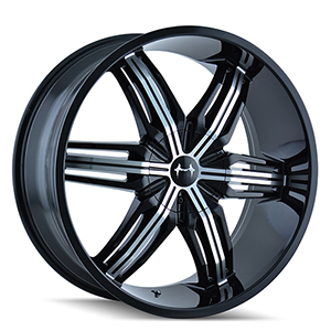 Mazzi Rush 792 Gloss Black W/ Machined Face