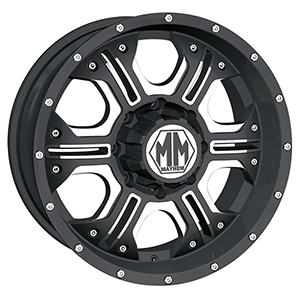 Mayhem Havoc 8020 Matte Black W/ Milled Spokes