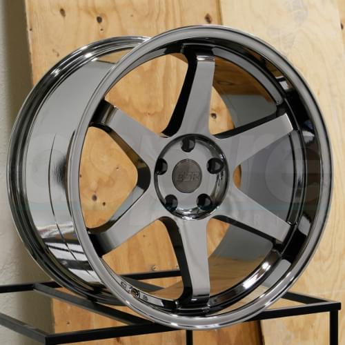 ESR SR07 18X8.5 5X114.3 +30 73.1 VACUUM BLACK CHROME 1 WHEEL/RIM